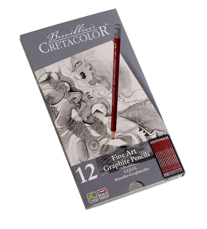Cretacolor Fine Art Graphite Set Of 12 160 52