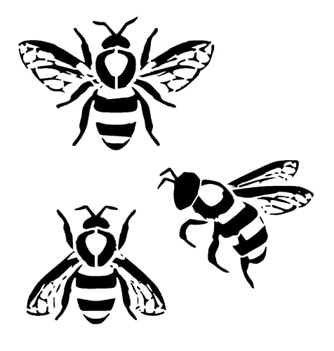 Bumble Bee Stencil Choose Size And Thickness