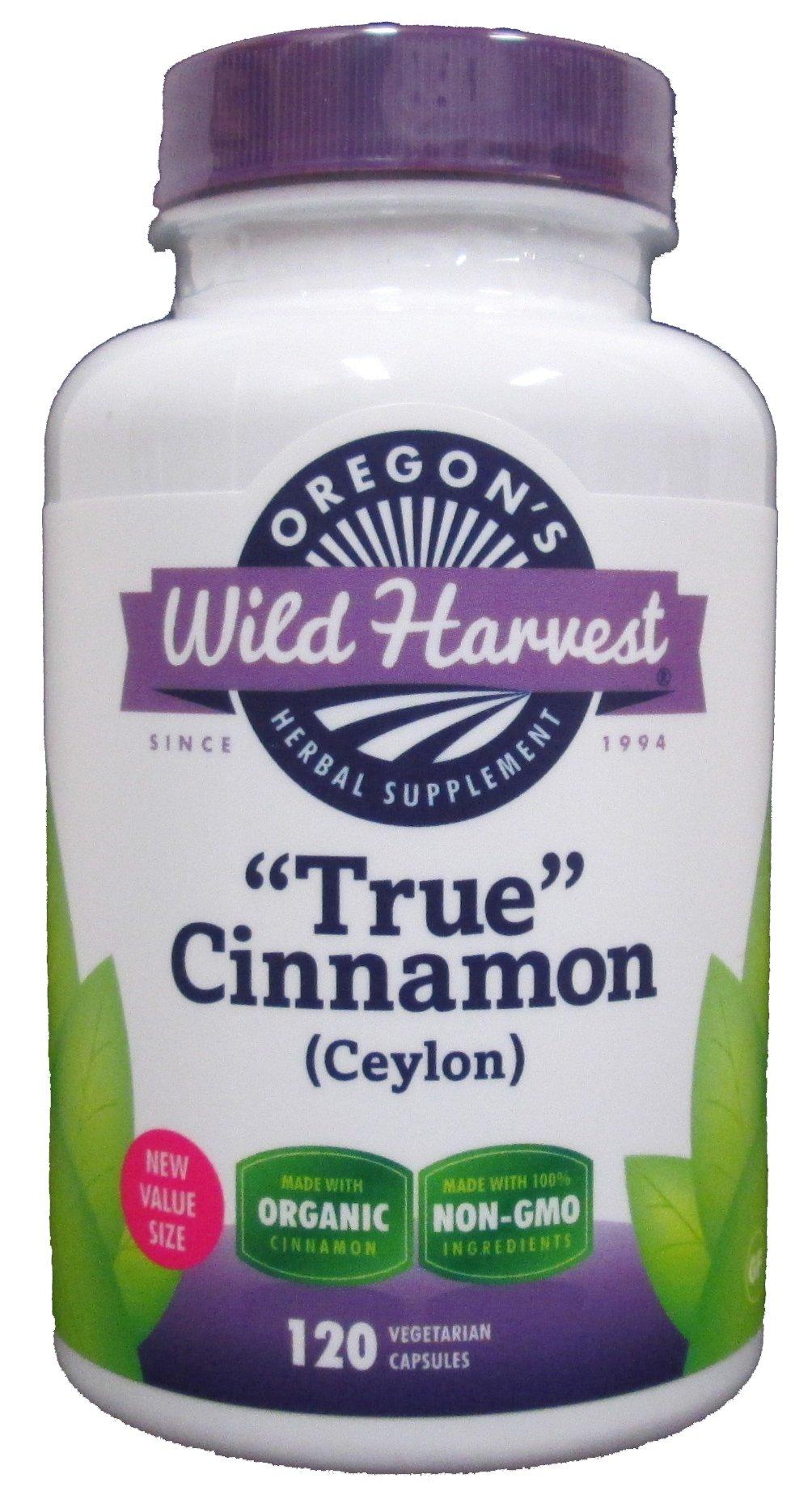 True Cinnamon (Ceylon) - 120 Veg Capsules - Oregon's Wild Harvest