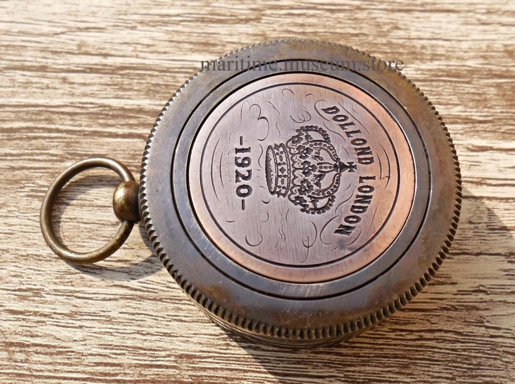 MAH Pocket Brass Sundial Compass London, Both Side Work on The Bird. C-3249