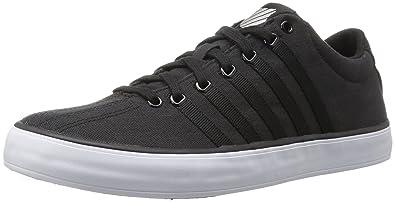 Unisex Adults Court Pro Vulc Low-Top Sneakers, Black/White K-Swiss