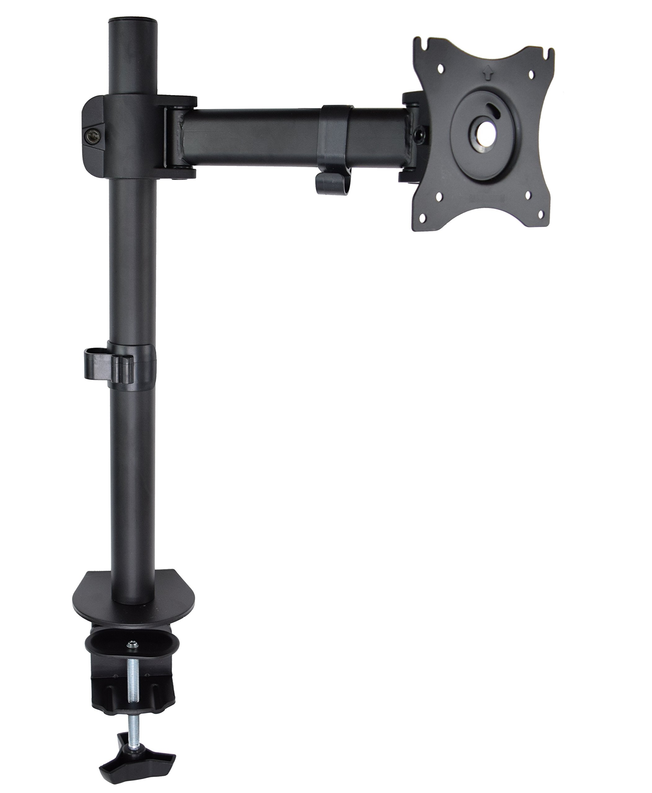 """VIVO Single Monitor Fully Adjustable Computer Desk Mount/Articulating Stand for 1 LCD Screen up to 32"""" (STAND-V001E)"""