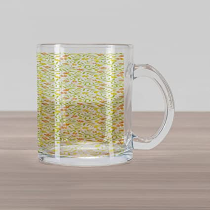 86dcd758622 Amazon.com: Ambesonne Abstract Glass Mug, Nursery Concept of Tiny ...