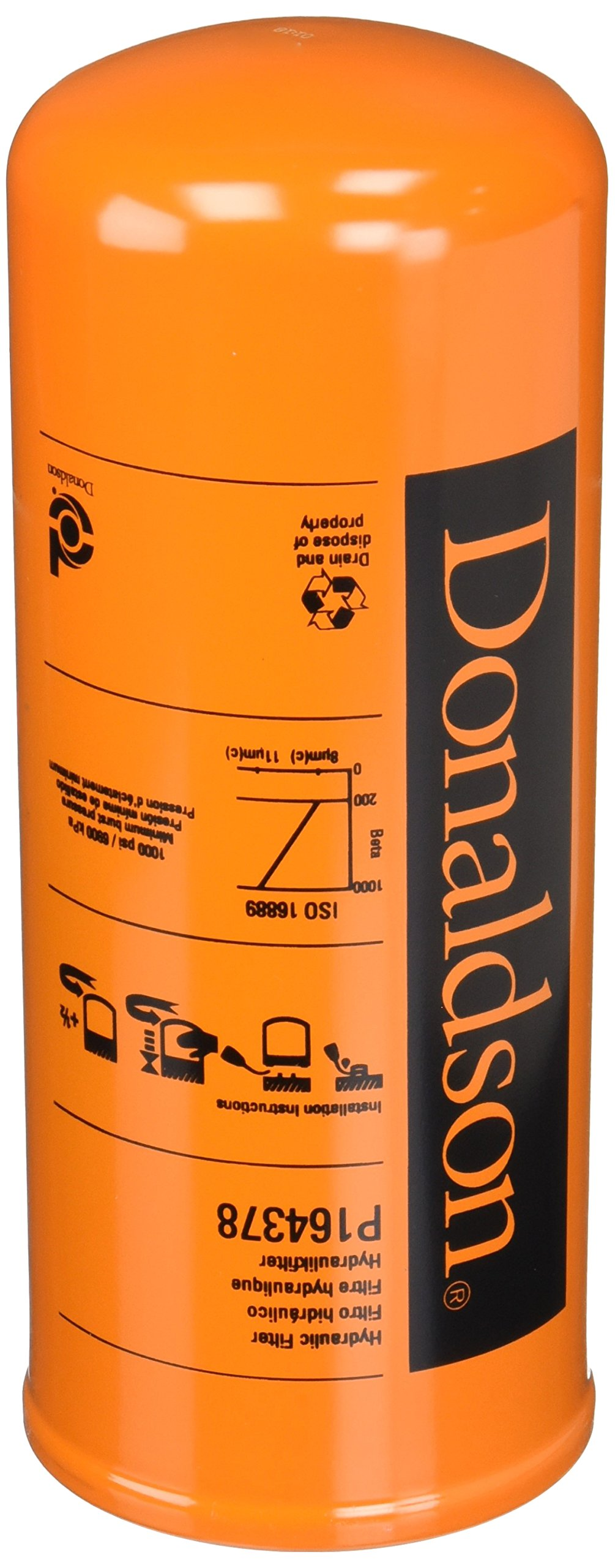 Donaldson P164378 Hydraulic Filter, Spin-on, Duramax by Donaldson
