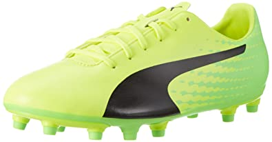 premium selection 2e3ef fc75c Puma Evospeed 17.5 FG, Chaussures de Football Compétition Homme, Jaune  (Safety Yellow Black