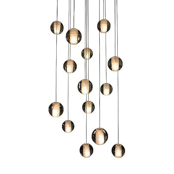 Amazon orion 14 light floating glass globe led chandelier orion 14 light floating glass globe led chandelier aloadofball Gallery