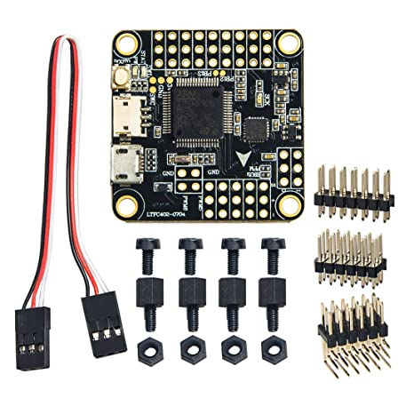 Wolfwhoop Betaflight OMNIBUS F4 Flight Controller Integrated OSD and 5V /  0 5A BEC FC Include PPM and RSSI for Drone