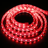 XUNATA 1 m LED-strip, rood, 220 V, SMD 5050 60 LEDs/m, IP67, waterdicht, LED-strip, voor keuken