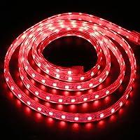 XUNATA 1 m LED-strip, rood, 220 V, SMD 5050 60 LEDs/m, IP67, waterdicht, LED-strip, voor keuken