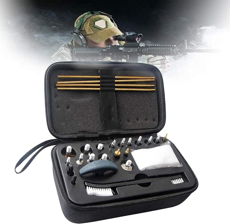 Bolsa de escopeta que acampa, Kit de limpieza de armas, accesorios de pistola, herramientas de limpieza 10 cabezas de cepillo de alambre de cobre (12GA, 20/28, 410.30.27.22.45 / .44.40, 357 / 38/9.17)
