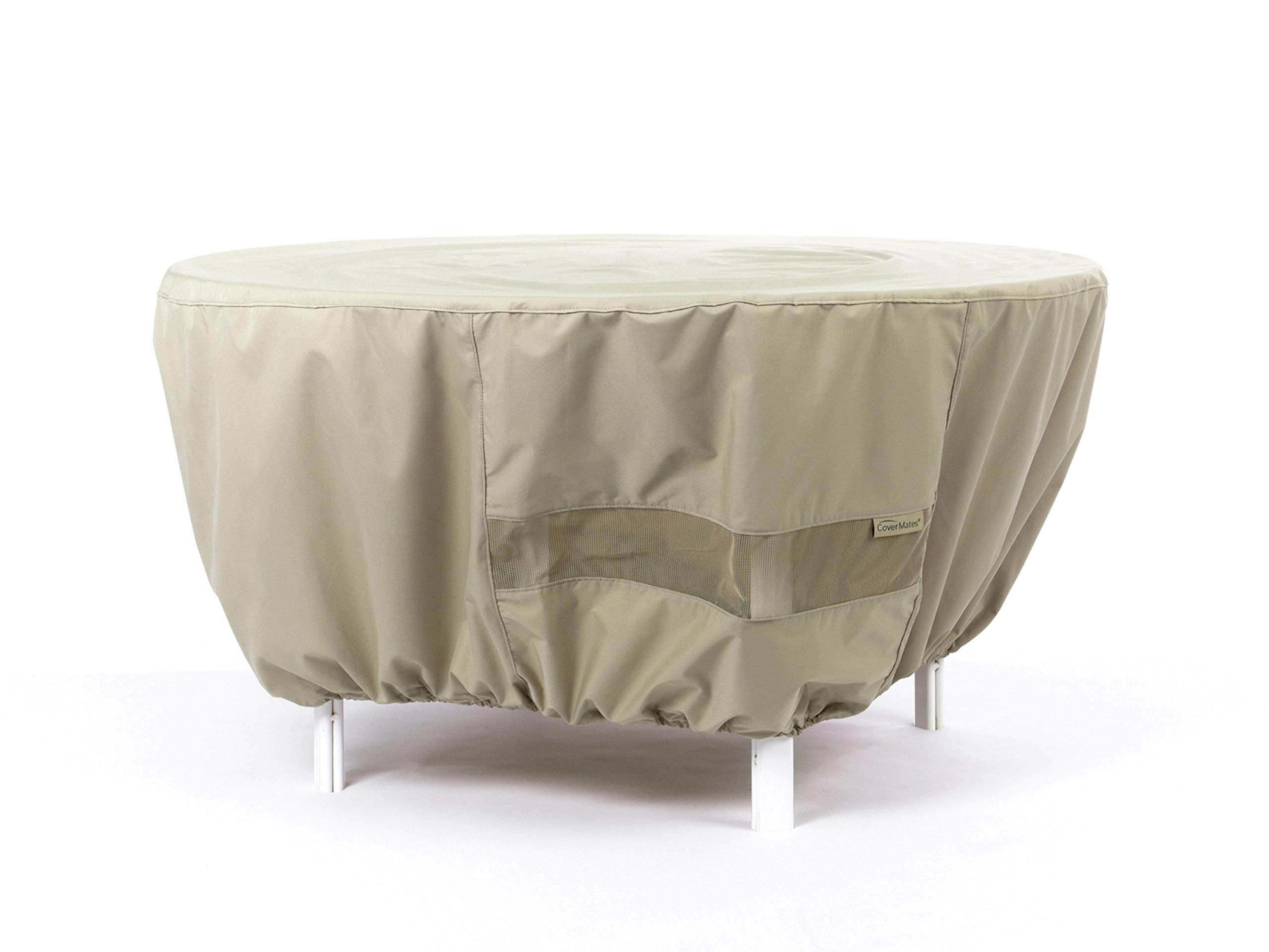 CoverMates – Outdoor Patio Round Dining Table Cover 48DIAMETER x 25H – Elite Collection – 3 YR Warranty – Year Around Protection- Khaki