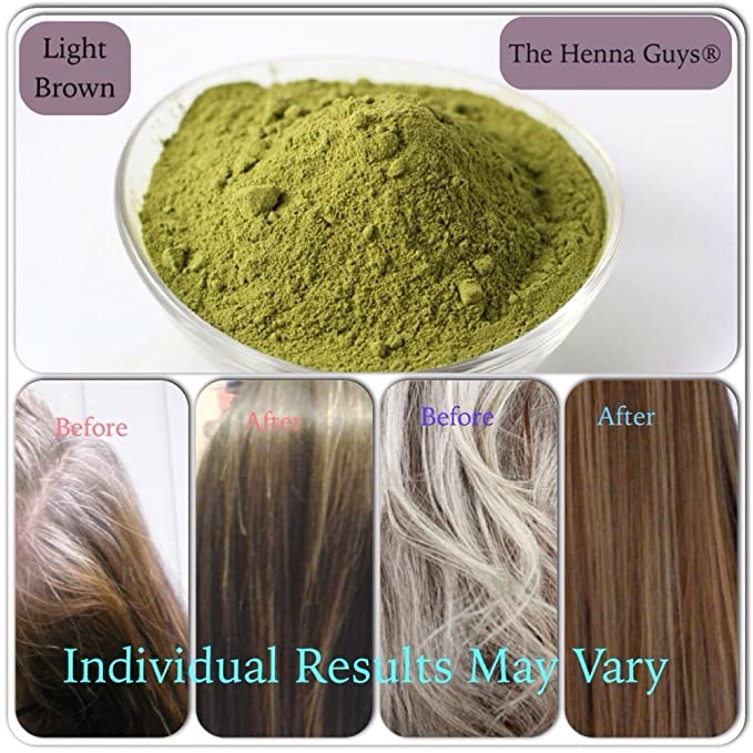 Light Brown Henna Hair Dye 300 Grams The Henna Guys Amazon Ca