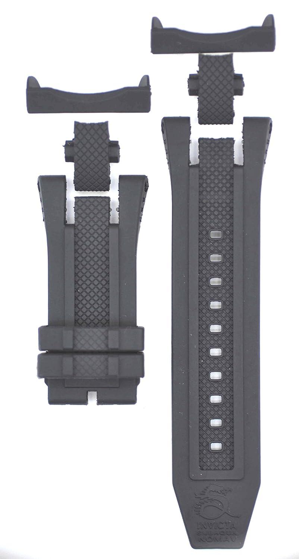 30 mmブラックゴム時計ストラップfor Subaqua Noma V 18175 Watches inv110  B0793QPZP1