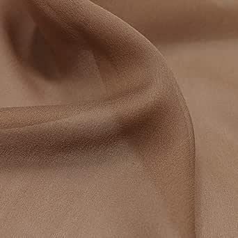 Chiffon Ladies Fabric, Color - Brown