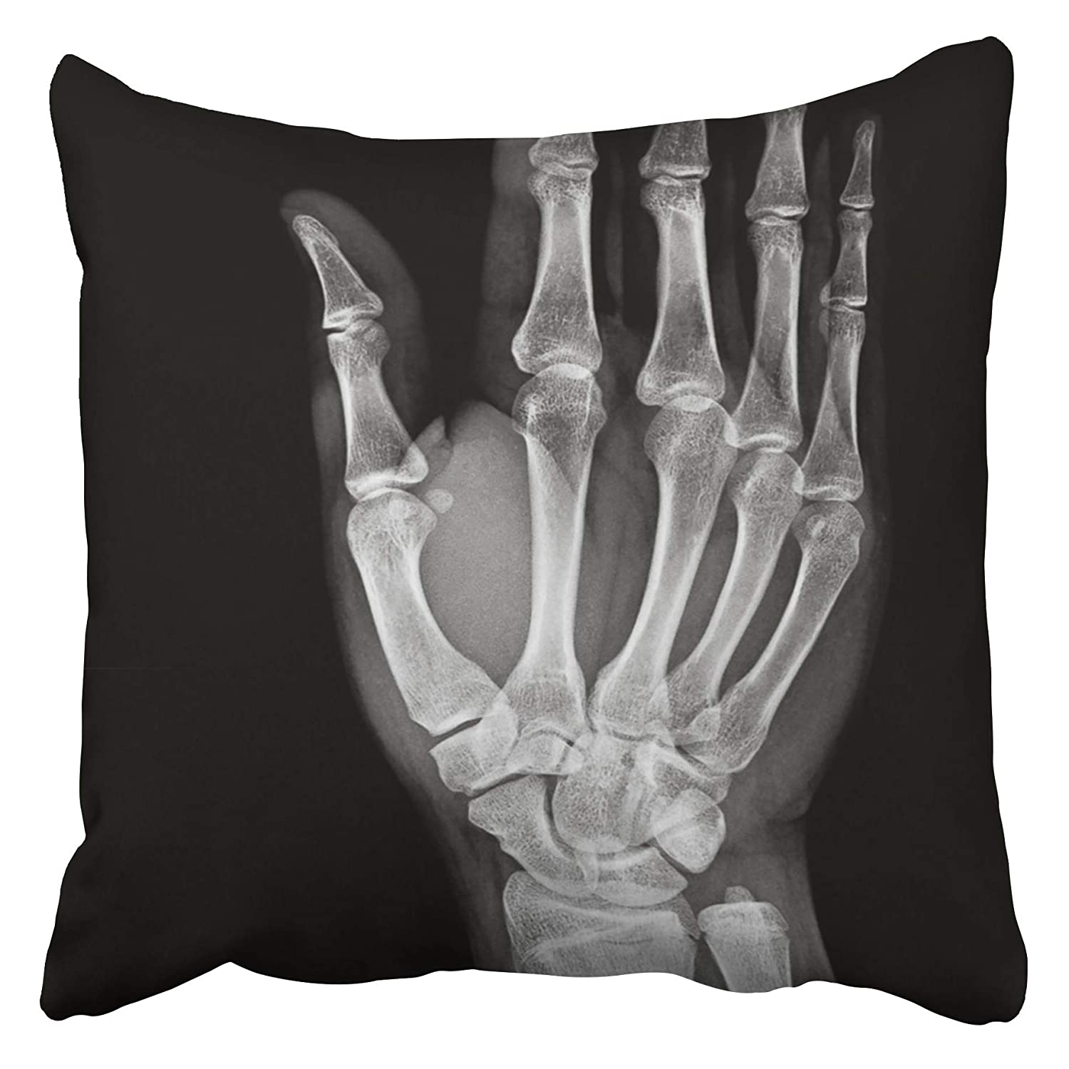 Amazon Emvency Decorative Throw Pillow Covers Cases Arm X Ray