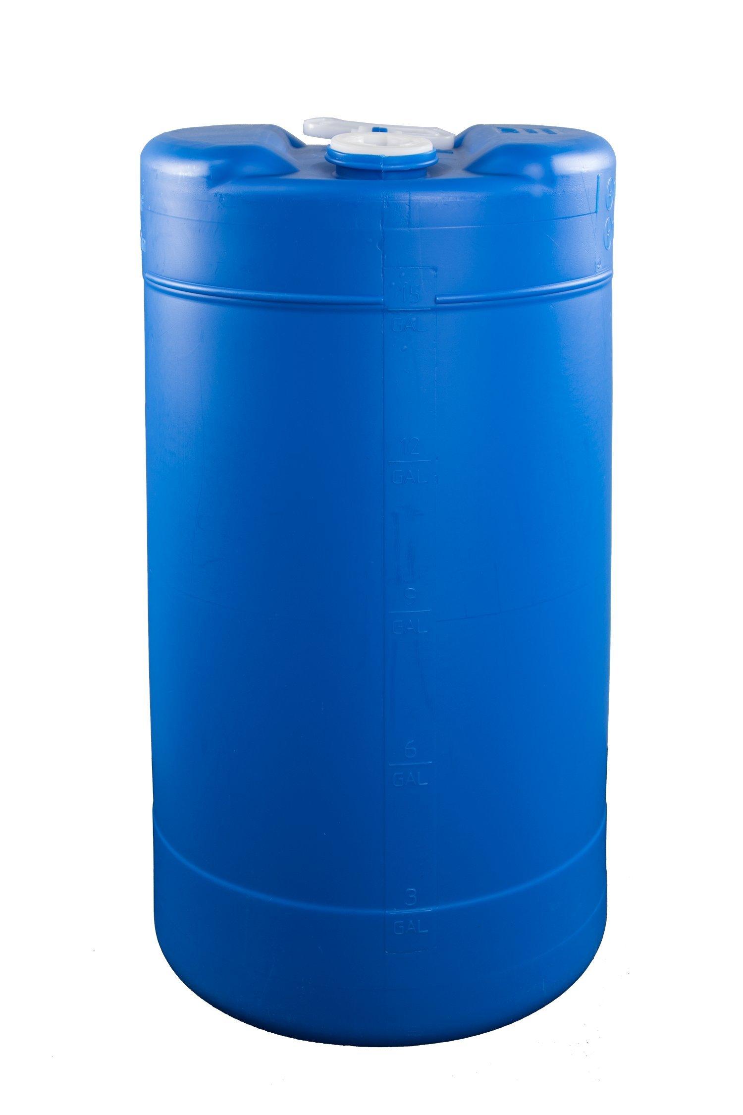 15 Gallon Emergency Water Storage Barrel - BPA Free, Portable, Food Grade Plastic - Survival Preparedness Water Supply by Legacy Premium Food Storage