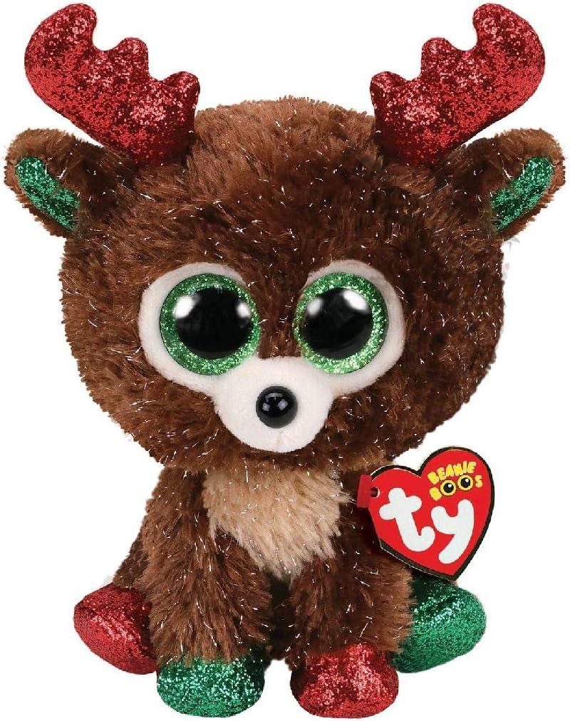 TY Beanie Boos TY36684Fudge El Ren Peluche, 15 cm, Color Marrón: Amazon.es: Juguetes y juegos