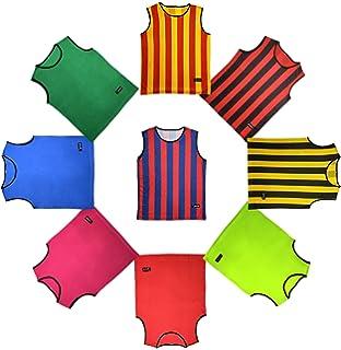 Black, 10 Pack Child American Challenge Soccer Sports Scrimmage Vest Jersey