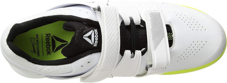 Reebok Men's Legacylifter Sneaker White/Black/Solar Yellow