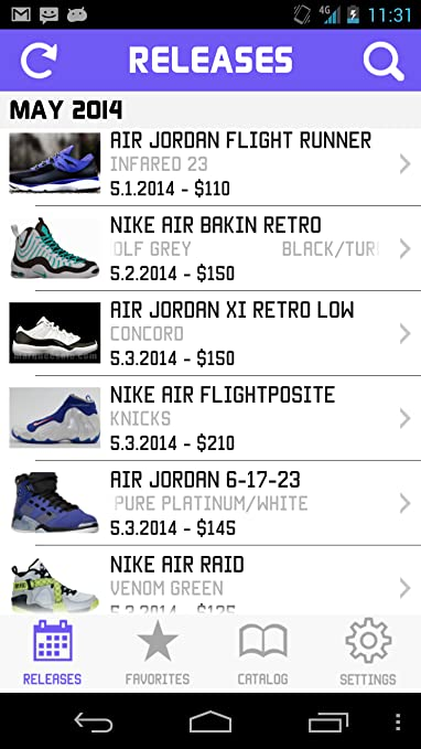2ee1821f1565 Amazon.com  Sneaker Crush - Nike   Air Jordan Release Dates  Appstore for  Android
