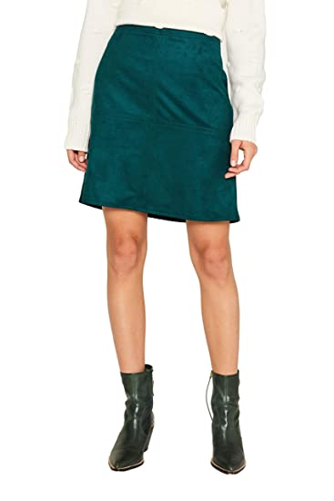 Esprit 109ee1d010 Falda, Verde (Dark Teal Green 375), 38 (Talla ...