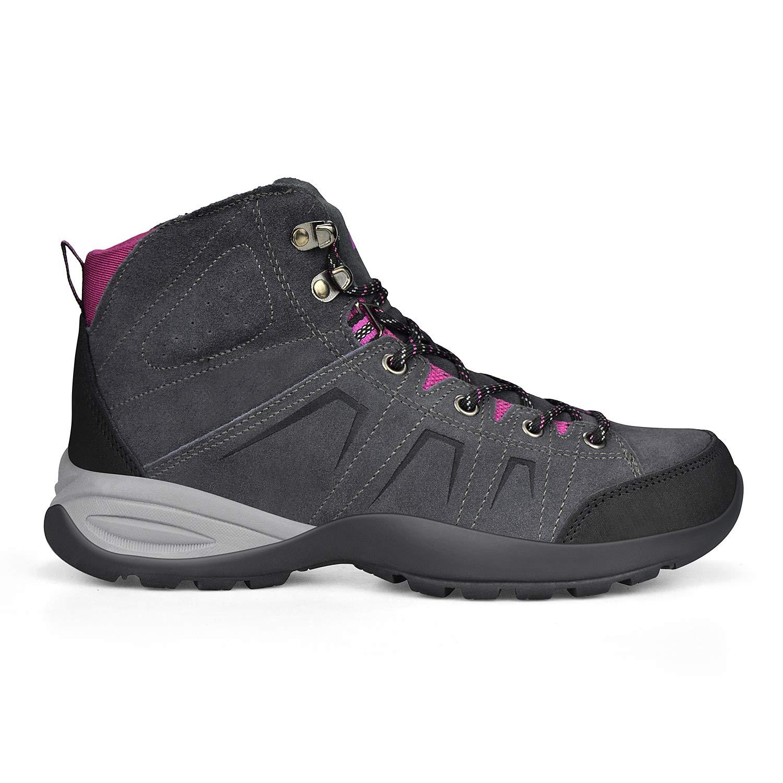 Feetmat Womens Hiking Shoes Leather Outdoor Sports Trekking Climbing Running Walking Sneakers