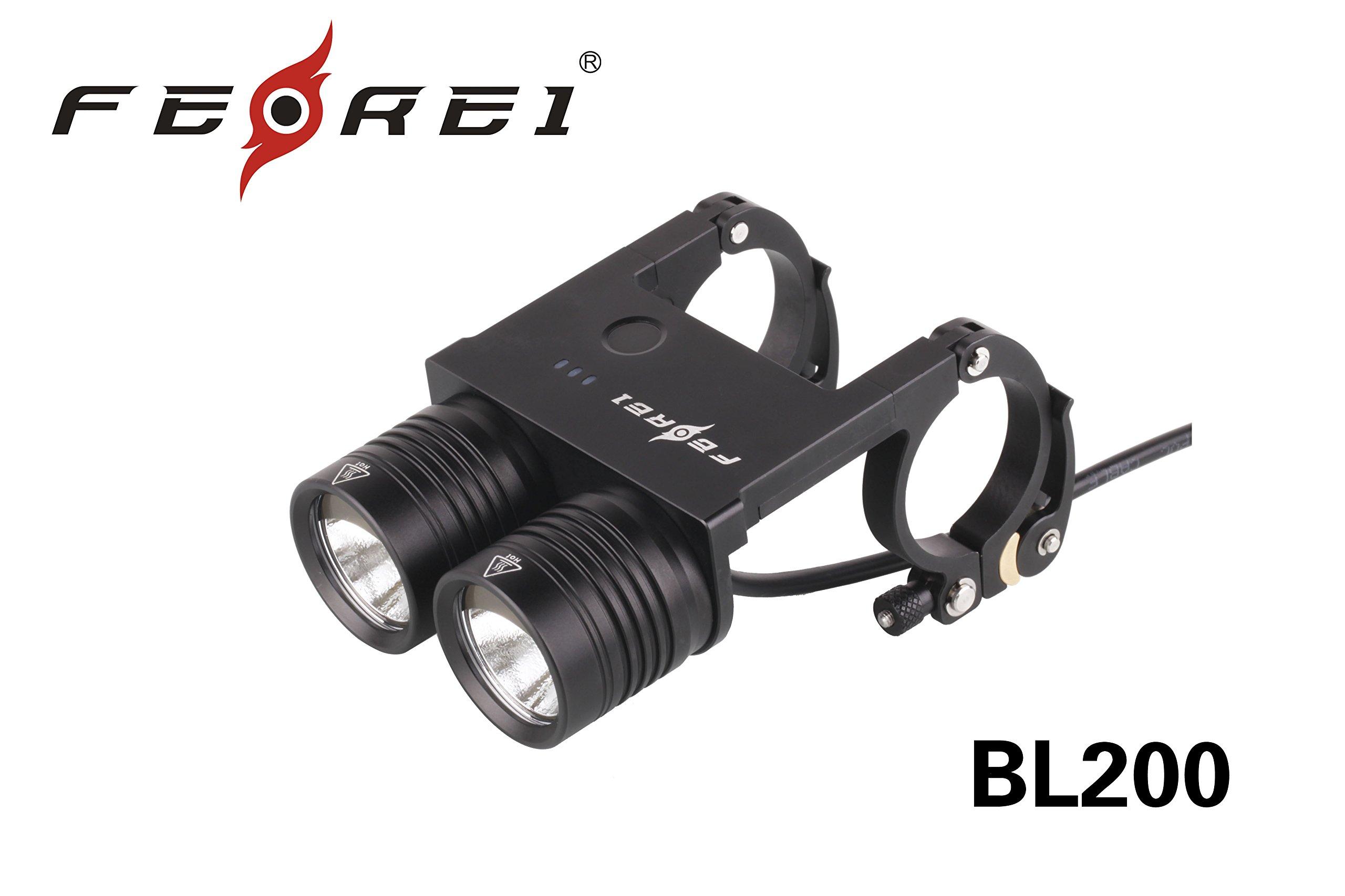 Moveski BL200 bike lights led rechargeable Military aluminum Twin LED Front Bicycle lamp waterproof CREE XM-L LED 860 Lumens-Black