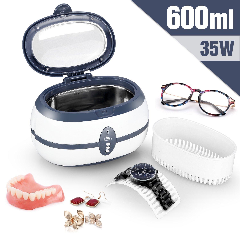 Uten Sonic Ultrasonic Cleaner 750ml Jewellery Cleaner with Dentures Glasses