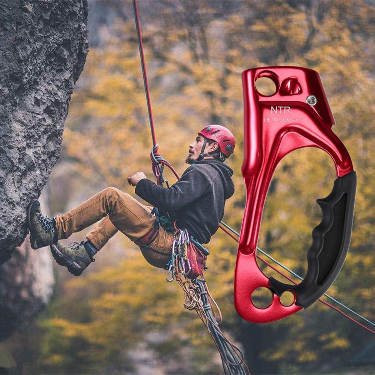 WILDKEN Ascender la Mano Derecho para Montañismo y Ascenso Escalada Ascender Manija Derecha para Escalar Árboles en Alpinismo Cuerdas 8mm-12mm