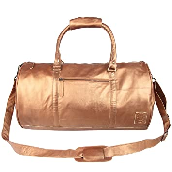 71a847ccbbc1 Leather Duffle Bag Weekend Bag Overnight bag Gym Bag in Metallic Bronze  Gold by MAHI Leather  Amazon.co.uk  Luggage