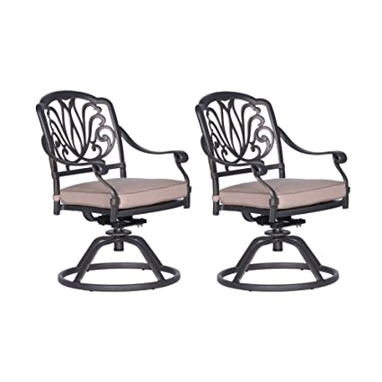 Fine Amazon Com Ipatio Athens Dining Swivel Rocker Chairs With Alphanode Cool Chair Designs And Ideas Alphanodeonline