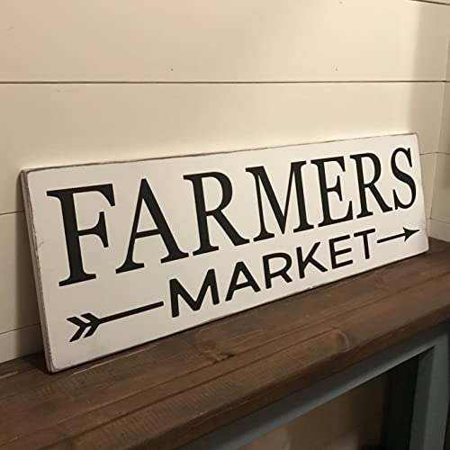 Farmers Market Rustic Sign / Kitchen Sign / Market Sign / Distressed Wood  Sign / Farmhouse