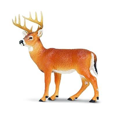 Safari Ltd Wild Safari North American Wildlife Whitetail Buck: Toys & Games