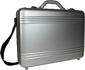 World Traveler European-style Aluminum Silver Laptop Attache Case, One Size