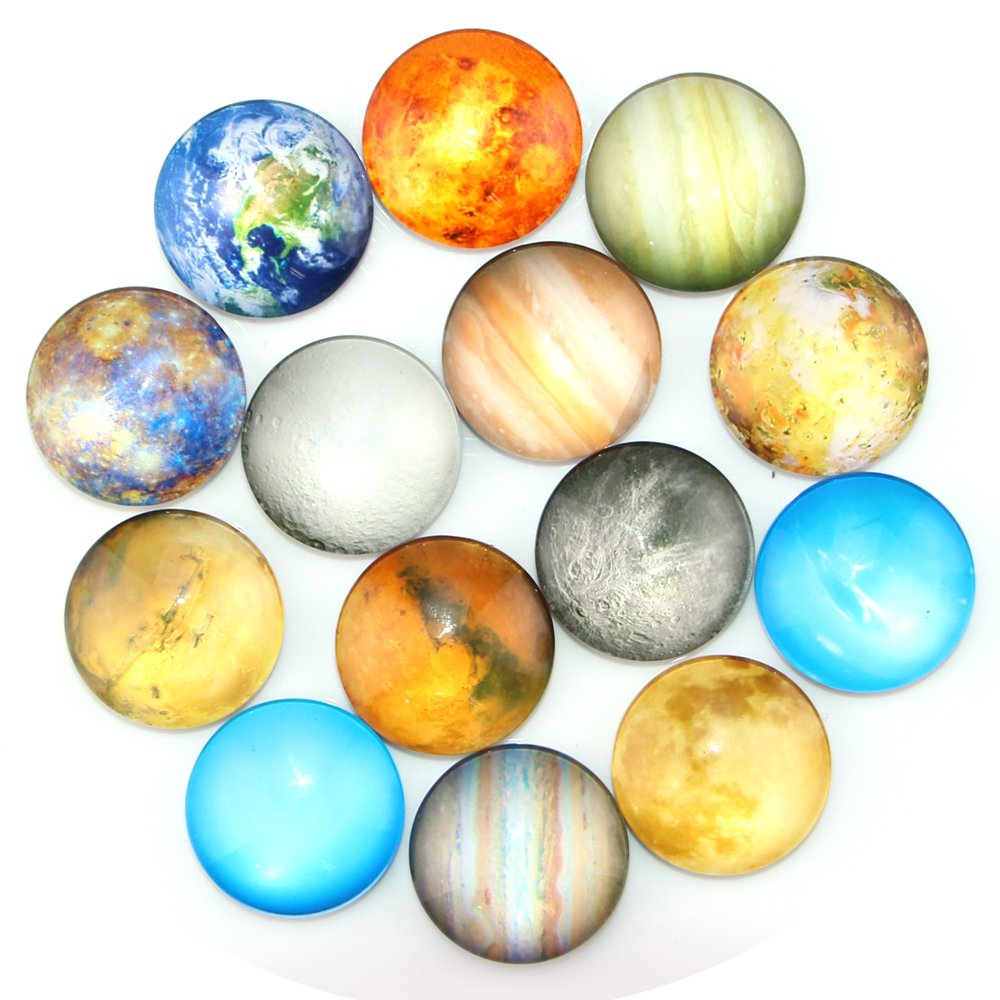 Ktdorns Planetary Fridge Magnets -14 Pack Refrigerator Magnets, Office Magnets, Calendar Magnet, Whiteboard Magnets,Perfect Decorative Magnet Set with Storage Box