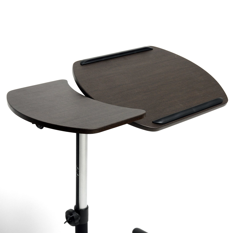 Amazon.com: Baxton Studio Olsen Brown Wheeled Laptop Tray Table With Tilt  Control: Home U0026 Kitchen