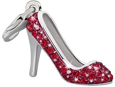 b5451287f9d Glamour World Kette und Charm  quot Pumps quot  mit Swarovski-Kristallen rot
