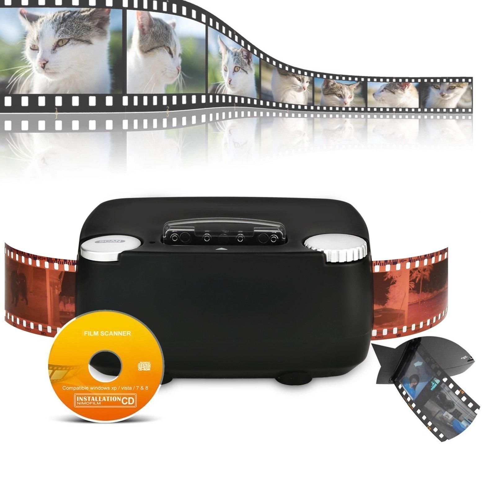 Slide & Film Scanner for 135 / 35mm Negative & Slide Digitizing, Compatible with Windows XP/Vista/ 7/8/10 by Rybozen (Image #1)