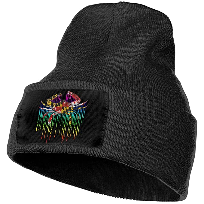 54f4e3329d8 Image Unavailable. Image not available for. Color  Maryland Flag Crab  Rainbow Unisex Knitted Hat ...