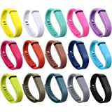 I-SMILE 15PCS Replacement Bands with Metal Clasps for Fitbit Flex/Wireless Activity Bracelet Sport Wristband(No Tracker…