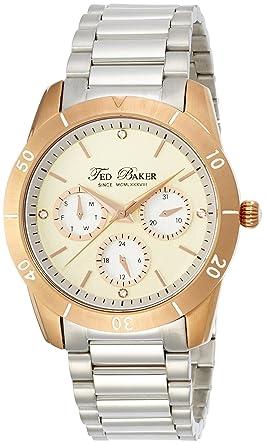 3af33070dbddee Amazon.com  Ted Baker Women s TE4085 Dress Sport Cream Dial Rose ...