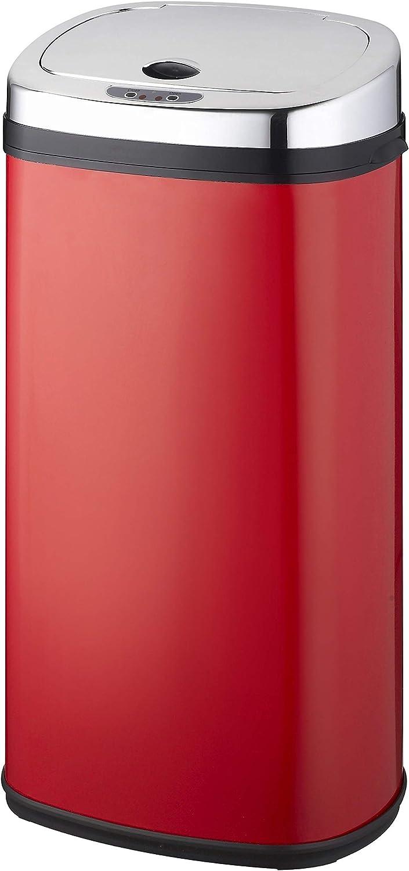 42 Litri in Acciaio Inox Forma Quadrata Design Cromato KITCHEN MOVE BAT-42LS02 A Nuovo Modello 2016 Pattumiera Automatica da Cucina
