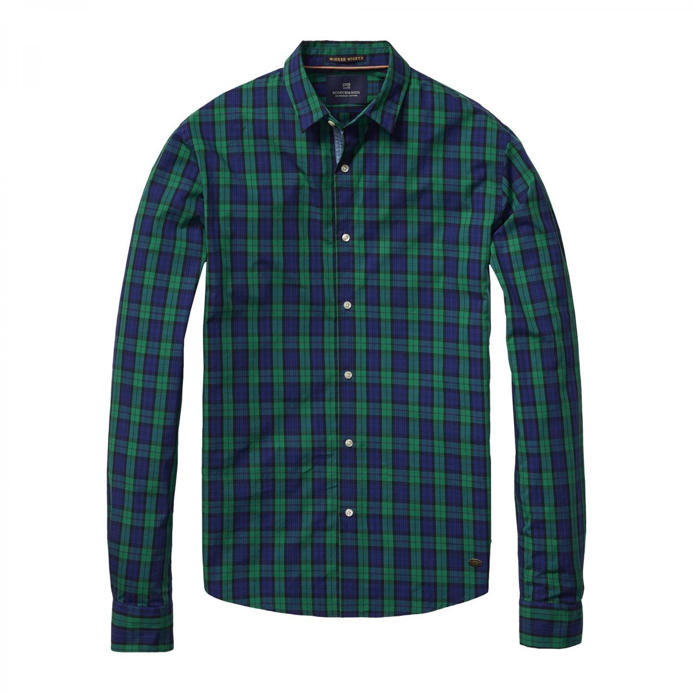 Scotch & Soda Herren Langarm Hemd Shirt with Check Pattern 101415 Combo A XL