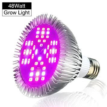 led grow lights bulb pathonor e27 48w led full spectrum high efficient hydroponic plant grow