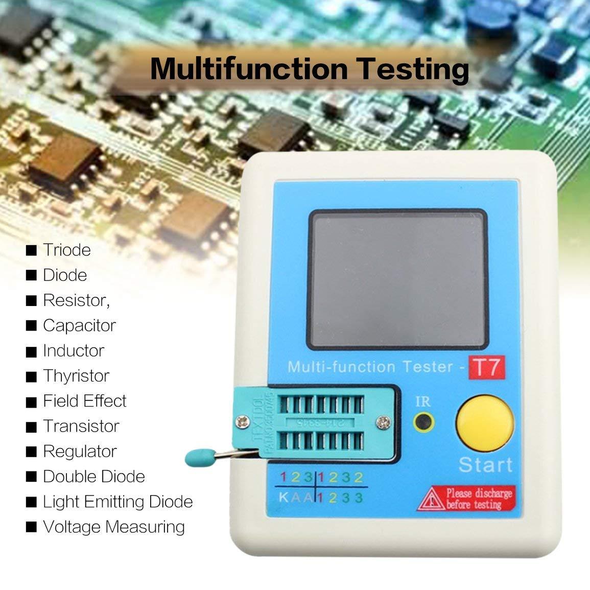 Probador de transistores LCR-T7 Medidor de capacitancia de diodo ...