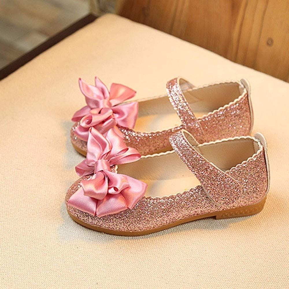 Party Soir/éE Mariage Enfant Chaussures /ÉT/é Paillette Nubuck Confortable L/éG/èRes Mignon Charment Doux Comfortable Sandales Princesse Plates en Cuir N/œUd