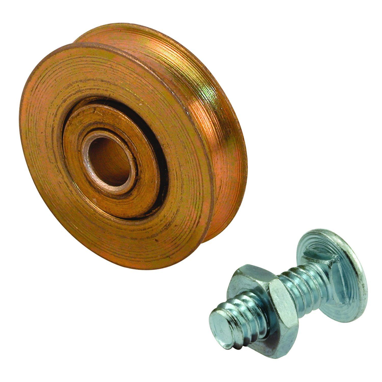 Prime-Line Products D 1502 Roller, 1-1/4 in. Outside Diameter, Steel w/Ball Bearings, Concave Edge Wheel