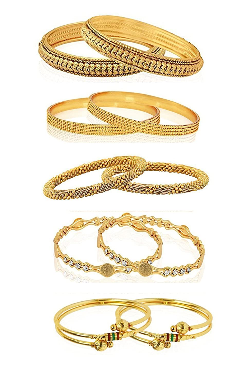 YouBella Jewellery Combo of Five Gold Plated Wedding and