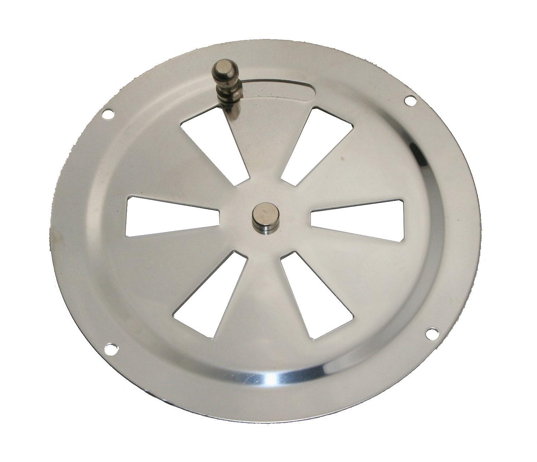 Griglia di ventilazione rotanda in acciaio inox, Rundlüfter Schiebeverschluss ARBO-INOX
