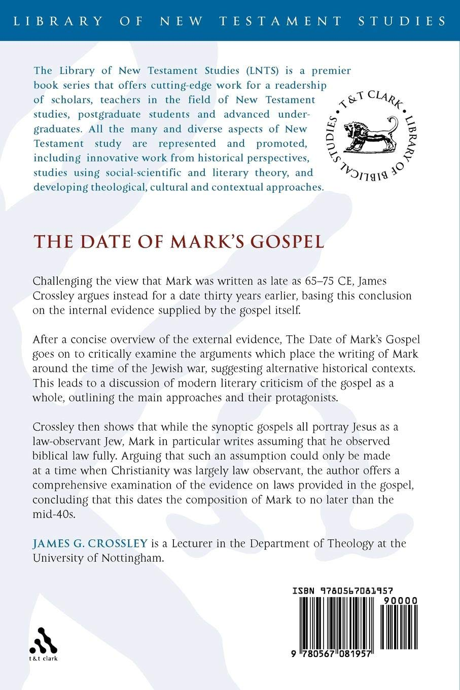 late dating of the gospels